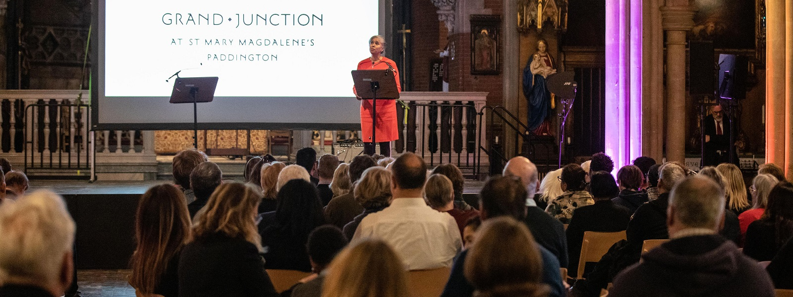 Blondel Cluff CBE launches Grand Junction at St Mary Magdalene's
